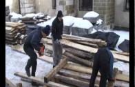 Budowa szopki w Krakowie